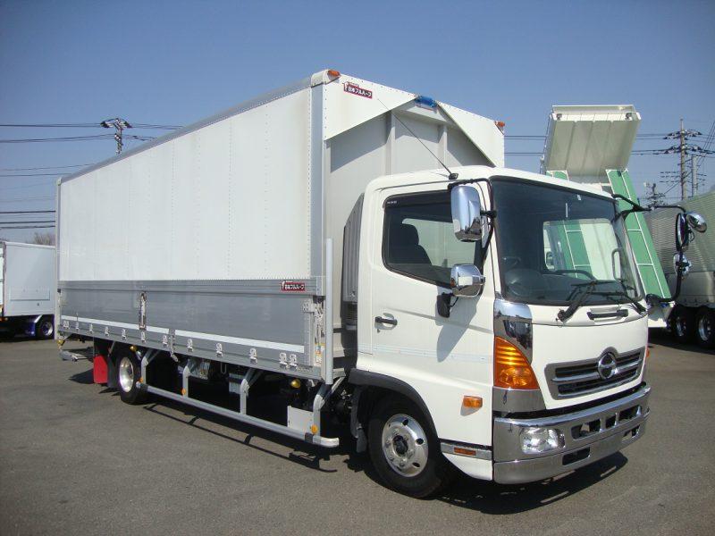 日野 中型トラック ウィングワイドエアサス格納PG付(6.68m) 画像