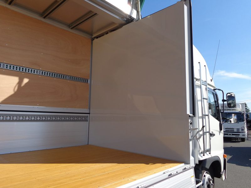 日野 大型トラック ウィングワイドエアサスハイルーフ格納PG付(6.3t)7.22m 画像
