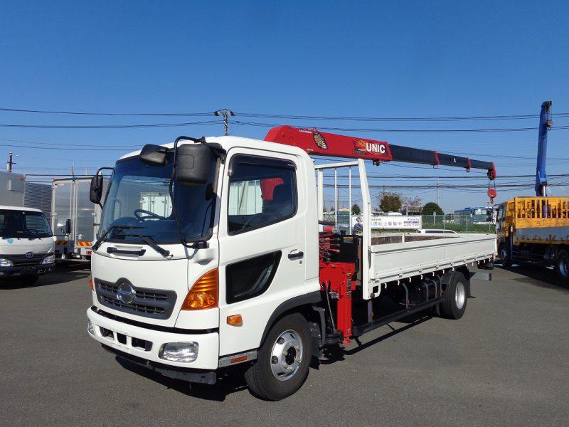 日野 中型トラック ユニック4段ラジコン付 画像