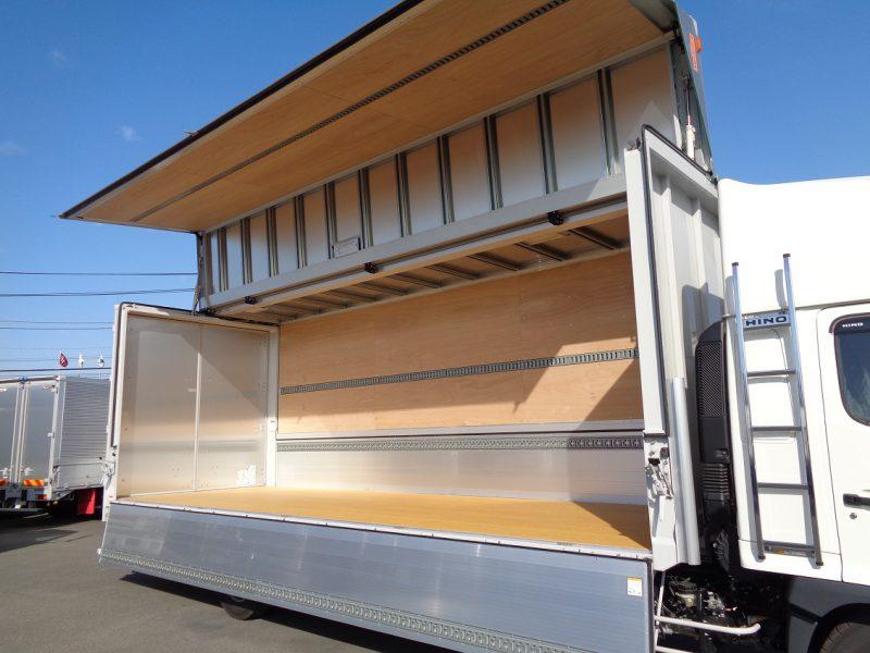 日野 大型トラック ウィングワイドエアサスハイルーフ格納PG付(6.4t)7.22m 画像
