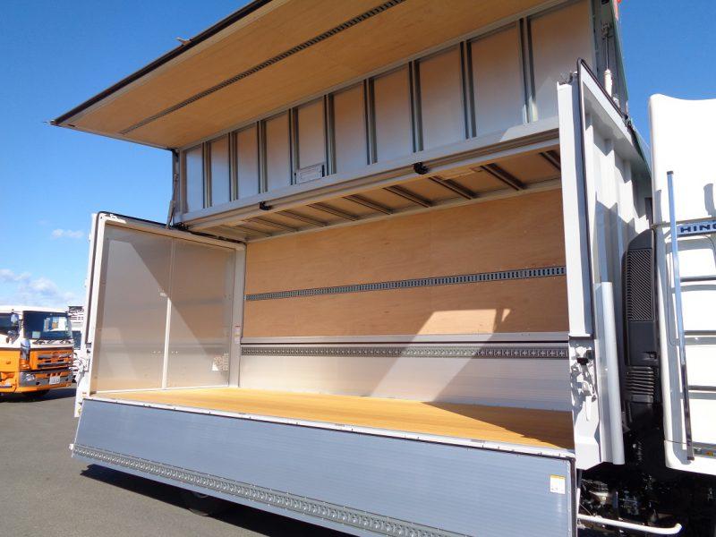 日野 大型トラック ウィングワイドエアサスハイルーフ格納PG付(6.6t)6.22m 画像