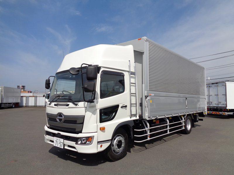 日野 大型トラック ウィングワイドエアサスハイルーフはね上げPG付(6.5t)6.2m 画像