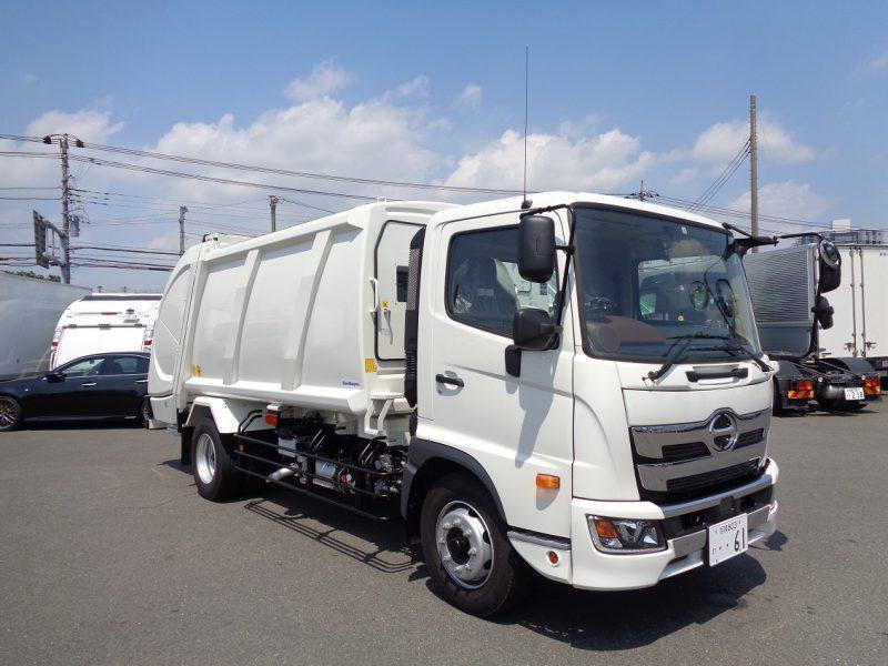 日野 大型トラック 塵芥車プレス式(10.2m3)6.6t新明和 画像